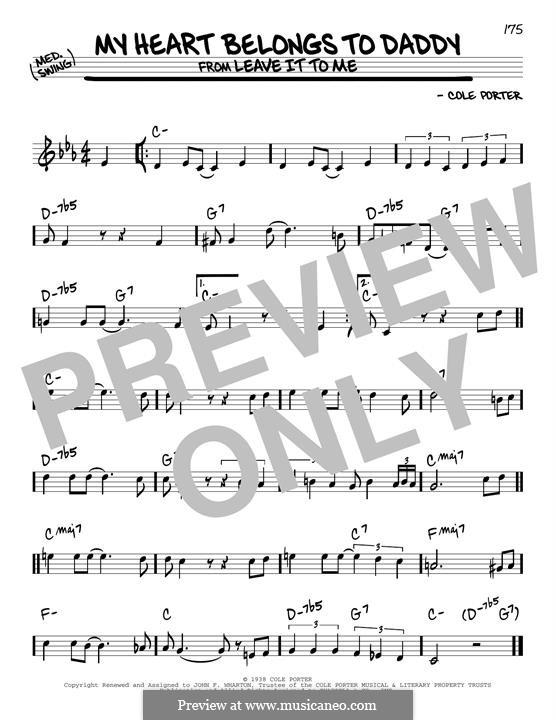 My Heart Belongs to Daddy: Für Gitarre by Cole Porter