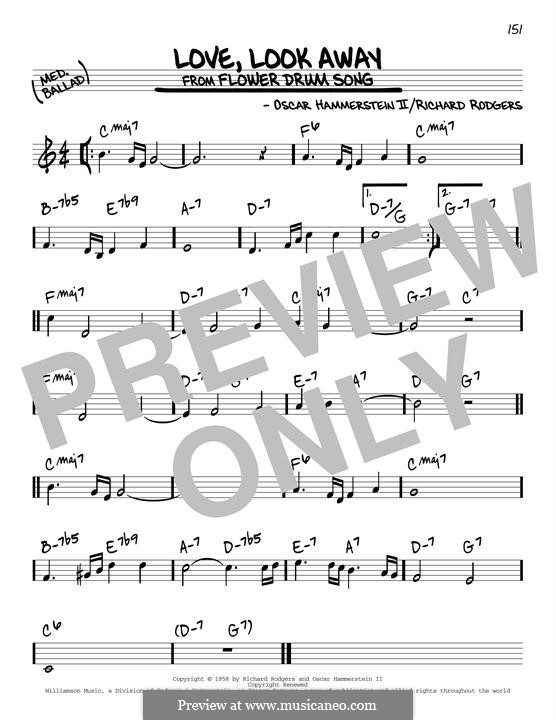 Love, Look Away: Für Gitarre by Richard Rodgers