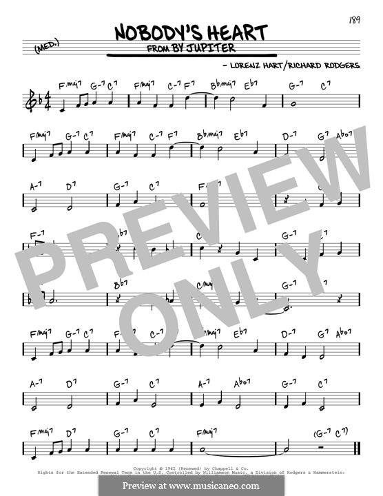 Nobody's Heart: Für Gitarre by Richard Rodgers