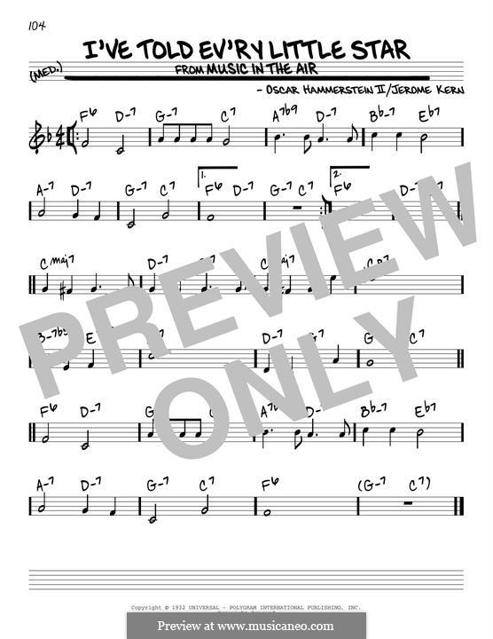 I've Told Ev'ry Little Star: Für Gitarre by Jerome Kern