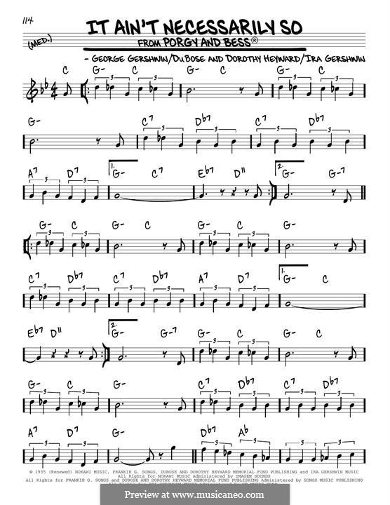 It ain't Necessarily So: Für Gitarre by George Gershwin