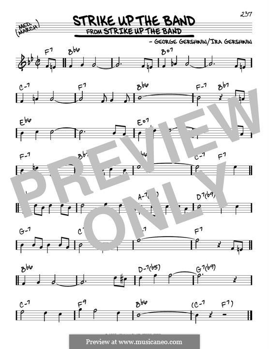 Strike Up the Band: Für Gitarre by George Gershwin