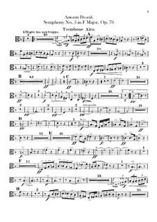 Sinfonie Nr.5 in F-Dur, B.54 Op.76: Posaunenstimmen by Antonín Dvořák
