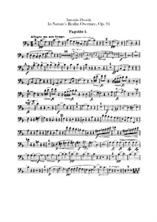 In der Natur, B.168 Op.91: Fagottstimme by Antonín Dvořák