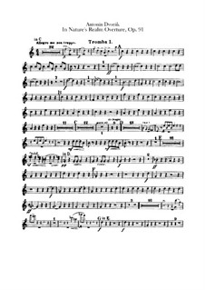 In der Natur, B.168 Op.91: Trompetenstimmen by Antonín Dvořák