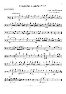 Nr.7 Skočná: Für Klaviertrio – Cellostimme by Antonín Dvořák