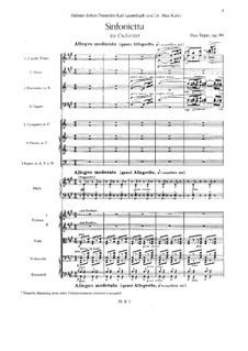 Sinfonietta in A-Dur für Orchester, Op.90: Teil I by Max Reger