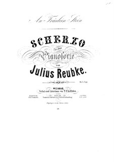 Scherzo in d-Moll, Op.3: Für Klavier by Julius Reubke