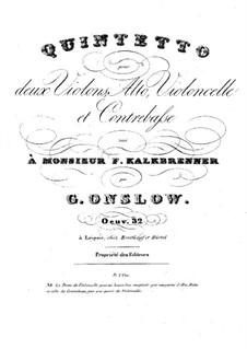 Streichquintett Nr.10 in f-Moll, Op.32: Stimmen by Georges Onslow