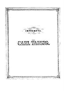 Impromptu in f-moll, Op.1: Impromptu in f-moll by Carl Tausig