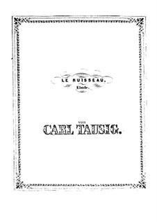 Le ruisseau. Etude, Op.6: Le ruisseau. Etude by Carl Tausig