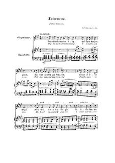 Nr.2 Intermezzo: Klavierauszug mit Singstimmen (Englisch, Deutsch) by Robert Schumann