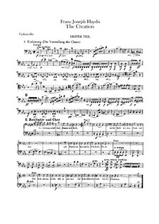 Die Schöpfung, Hob.XXI/2: Cellostimmen by Joseph Haydn