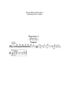 Die Nacht vor dem Christfeste. Suite: Schlagzeugstimmen by Nikolai Rimsky-Korsakov
