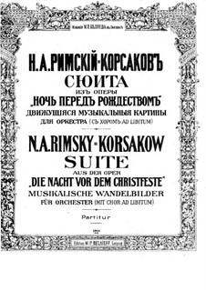 Die Nacht vor dem Christfeste. Suite: Partitur by Nikolai Rimsky-Korsakov