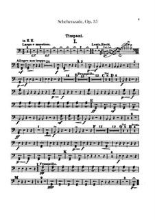 Scheherazade, Op.35: Schlagzeugstimmen by Nikolai Rimsky-Korsakov