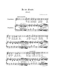 Nr.8 In der Fremde: Klavierauszug mit Singstimmen (Englisch, Deutsch) by Robert Schumann