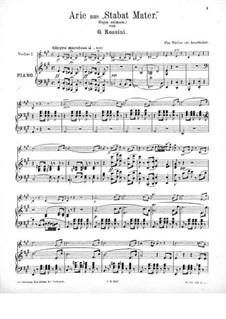Stabat Mater: Nr.2 Cujus animam, für Violine und Klavier by Gioacchino Rossini