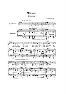 Nr.9 Wehmut: Klavierauszug mit Singstimmen (Englisch, Deutsch) by Robert Schumann