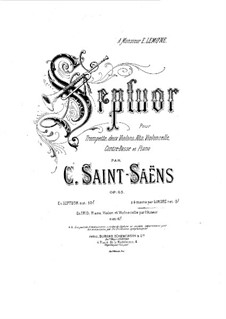 Septett in Es-Dur, Op.65: Version für Klavier, vierhändig by Camille Saint-Saëns