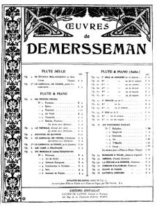 Grand air varié (Grosse Arie mit Variationen), Op.3: Partitur für Flöte und Klavier by Jules Demersseman