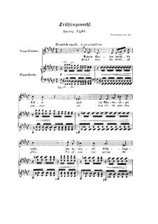 Nr.12 Frühlingsnacht: Klavierauszug mit Singstimmen (Englisch, Deutsch) by Robert Schumann
