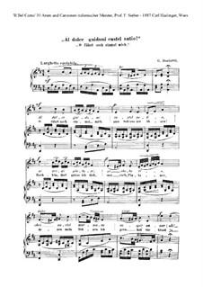 Anna Bolena: Al docce quidami castel natio, für Stimme und Klavier by Gaetano Donizetti