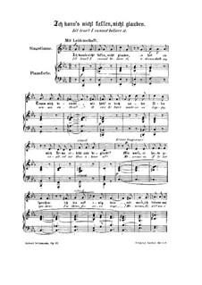 Frauenliebe und Leben, Op.42: Nr.3 Ich kann's nicht fassen, nicht glauben by Robert Schumann