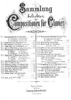 Sechs Characterstücke, Op.1: Sechs Characterstücke by Eugen Drobisch