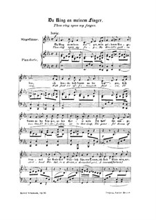 Frauenliebe und Leben, Op.42: Nr.4 Du Ring an meinem Finger by Robert Schumann