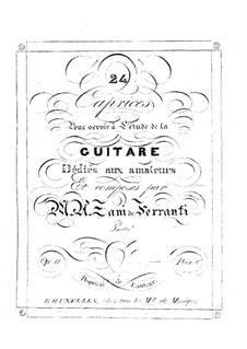 Capricen für Gitarre, Op.11: Für Gitarre by Marco Aurelio Zani de Ferranti