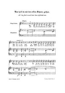 Frauenliebe und Leben, Op.42: Nr.8 Nun hast du, mir den ersten Schmerz getan by Robert Schumann