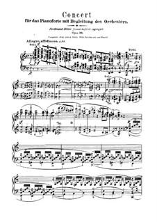 Konzert für Klavier und Orchester in a-Moll, Op.54: Teil I – Klavier Solo Stimme by Robert Schumann