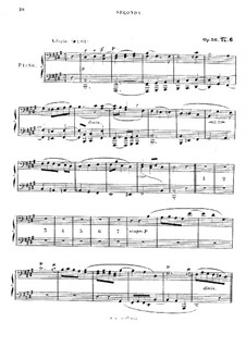 Studien in kanonischer Form, Op.56: Nr.6, für Klavier, vierhändig by Robert Schumann