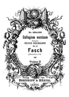 Sonate a 4 in d-Moll, Fwv N:d3: Violinstimme II by Johann Friedrich Fasch