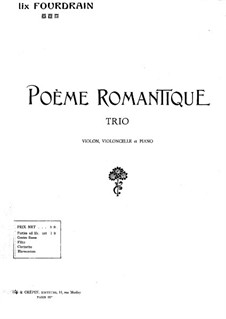 Romantisches Poem: Violinstimme by Félix Fourdrain