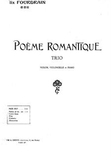 Romantisches Poem: Vollpartitur by Félix Fourdrain