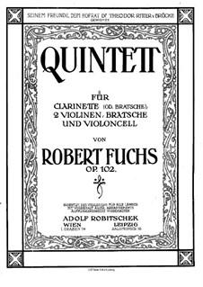 Quintett für Klarinette und Streicher, Op.102: Violinstimme I by Robert Fuchs