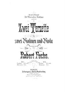 Streichtrio in E-Dur, Op.61: Violinstimme I by Robert Fuchs