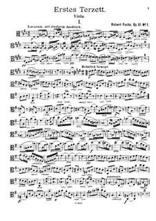 Streichtrio in E-Dur, Op.61: Violastimme by Robert Fuchs