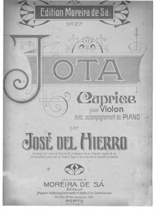 Jota. Caprice for Violin and Piano: Partitur by José del Hierro