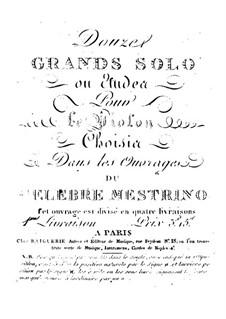 Zwölf grosse Solo für Violine: Zwölf grosse Solo für Violine by Niccolò Mestrino