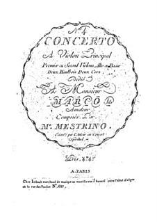 Violinkonzert Nr.4 in D-Dur: Violinkonzert Nr.4 in D-Dur by Niccolò Mestrino