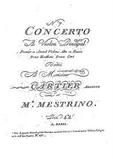 Violinkonzert Nr.7 in D-Dur: Violinkonzert Nr.7 in D-Dur by Niccolò Mestrino