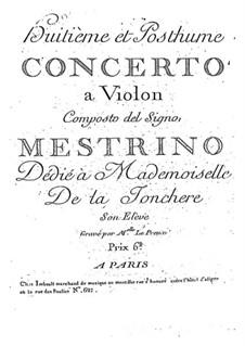 Violinkonzert Nr.8 in A-Dur: Violinkonzert Nr.8 in A-Dur by Niccolò Mestrino
