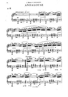 Fünfundzwanzig Stücke, Op.20: Nr.8 Andalouse für Klavier by Emile Pessard