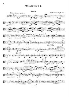Quartett für Streicher Nr.5 in B-Dur, Op.47 No.2: Violastimme by Anton Rubinstein