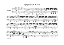 Sinfonie Nr.8 in h-Moll 'Unvollendete', D.759: Bearbeitung für Klavier, vierhändig by Franz Schubert