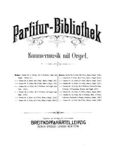Kirchensonate für zwei Violinen, Orgel und Basso Continuo Nr.4 in D-Dur, K.144: Vollpartitur by Wolfgang Amadeus Mozart