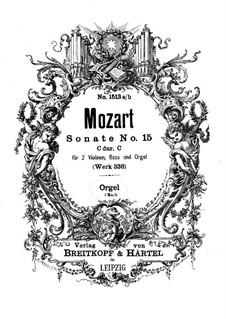Kirchensonate für zwei Violinen, Orgel und Basso Continuo Nr.17 in C-Dur, K.336 (336d): Orgelstimme by Wolfgang Amadeus Mozart